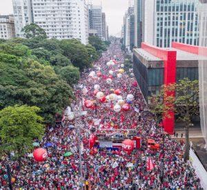 Imagem da mobilização no último dia 15, na Avenida Paulista Foto: Carlos Zuca